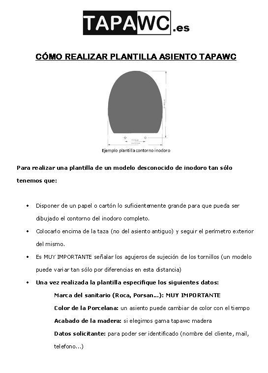 realizar plantilla contorno inodoro tapawc.es