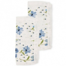 Muselina Bambu Blue Windflower 40x40 2uds