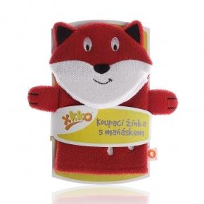 Manopla de baño de algodón Fox