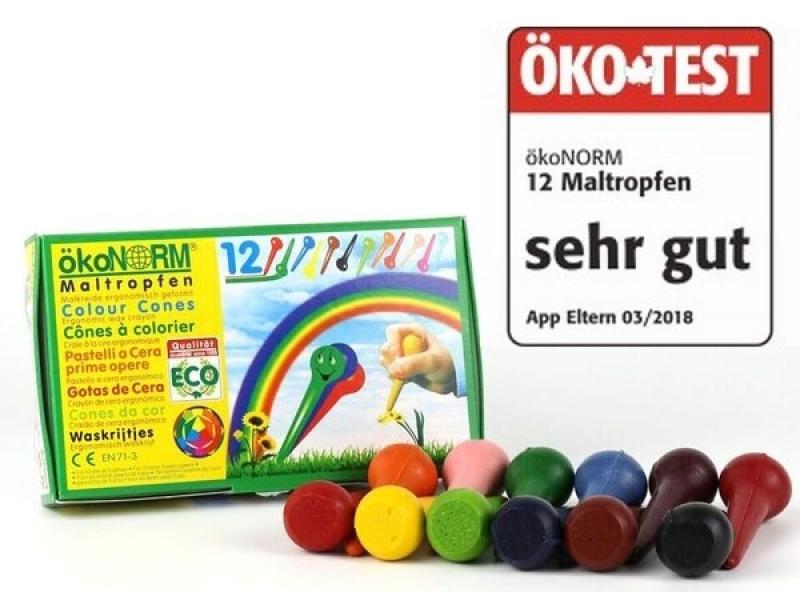 12 conos de ceras de colores Ökonorm
