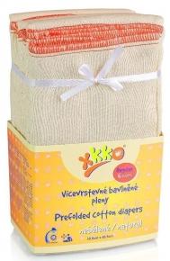 Pack de 6 pañales predoblados de algodón Xkko Talla L (Regular)