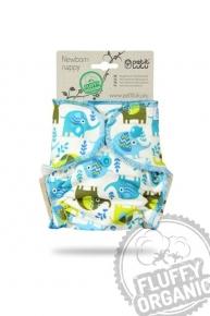 Pañal ajustado de bambú Recién Nacido Petit Lulu Orgánico Little Elephants