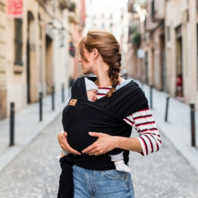 Fular portabebé elástico Baby on earth Total Black