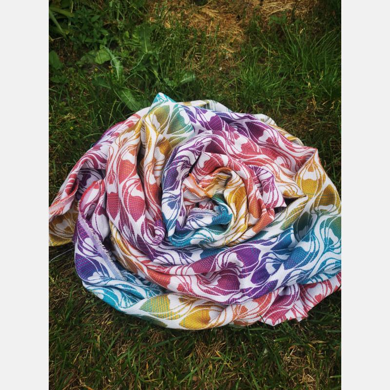 Fular Yaro La Fleur Trinity Caribbean Rainbow Cupro Tencel Lino