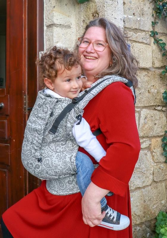 Mochila portabebé evolutiva Neko Switch Toddler Efes Paisley Light
