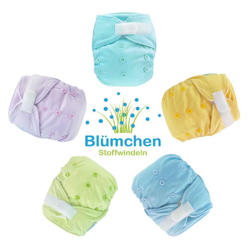 Pañal todo en uno Blümchen Bambú Plain Colors Velcro (slim)