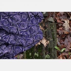 Bandolera Yaro Roses Duo Violet Lilac Tencel Seacell