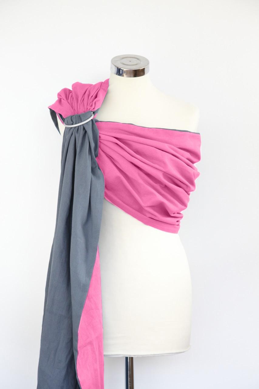 Bandolera de gasa Calin Bleu reversible Pink/grey