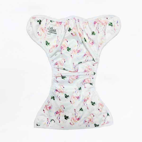 Cobertor unitalla La Petite Ourse Flamingo
