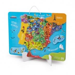 Mapa puzle magnético de España