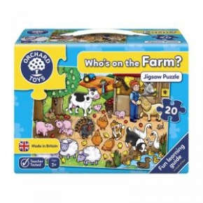 Whos on the Farm? Puzle para contar
