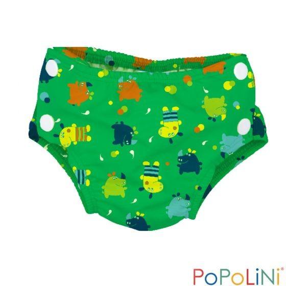 Pañal de natación UV 50+ Popolini Hippo Splash