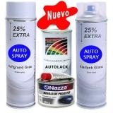 Kit Spray Pintura Coche Masilla + Primer + Color + Barniz Brillo