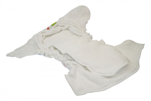 Pañal ajustado unitalla de algodón orgánico estampado Blümchen