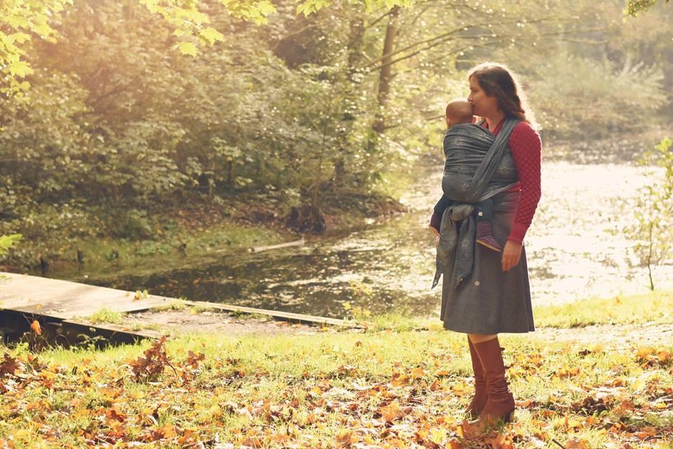 Fular Nona Woven Juno Regina con lana
