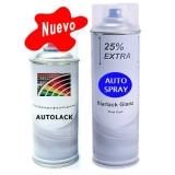 Kit Pintura Coche Spray Color + Barniz Brillo