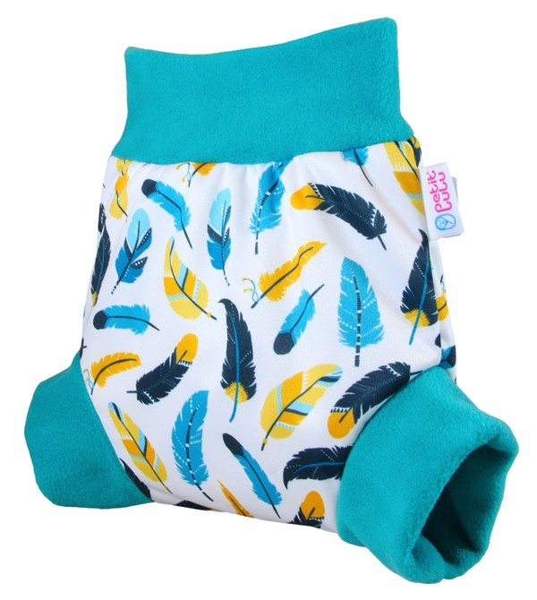Cobertor Petit Lulu Pull-Up Turquoise Feathers