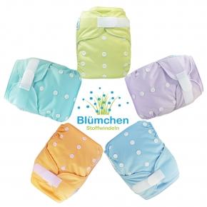 Pañal rellenable Blümchen colores lisos