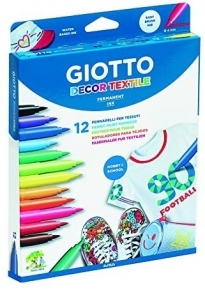 Pack 12 rotuladores textiles Giotto