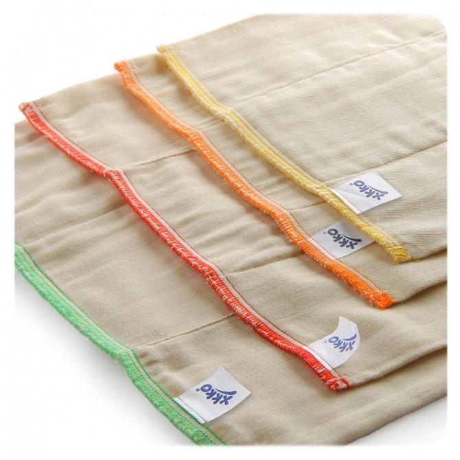 Pack de 6 pañales predoblados de algodón Xkko Talla M (Infant)