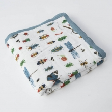 Manta Muselina Bambu Bugs  Little Unicorn 120x120