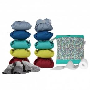 Pack de 10 pañales Pop-in V2 colores vivos 2020 con accesorios