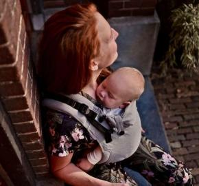 Mochila ergonómica evolutiva Pure Baby Love Click & Go Baby Grey