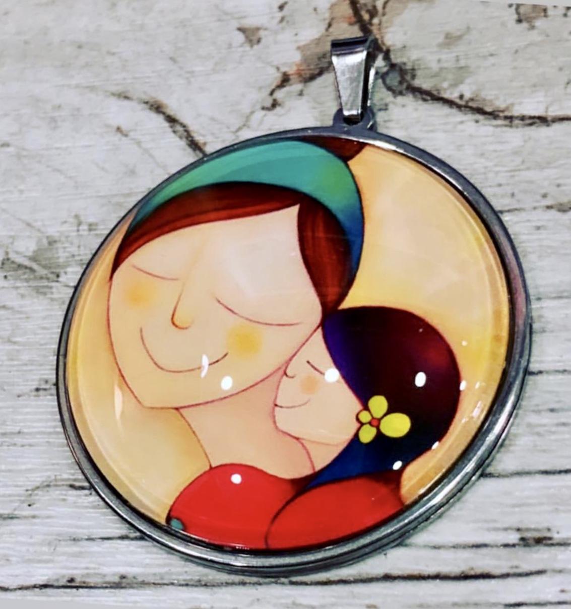 JUNTAS SOMOS UNA, Collar Maternal en Acero