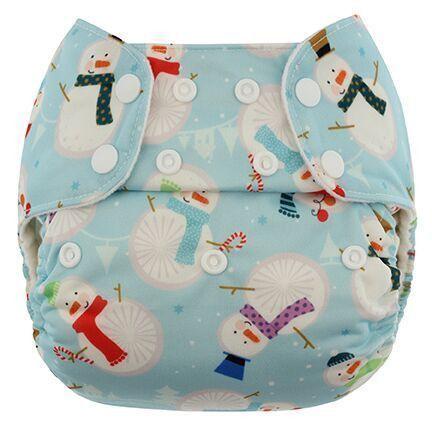 Pañal rellenable unitalla Blueberry Snowmen (sólo cobertor)