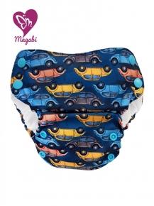 Pañal rellenable Magabi Pant Cars