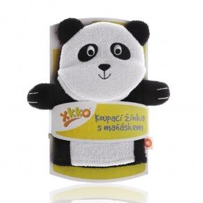 Manopla de baño de algodón Panda