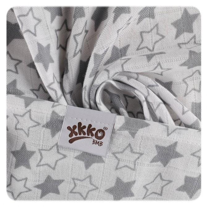 Pack de 3 Muselinas XKKO Bambú Little Stars Silver