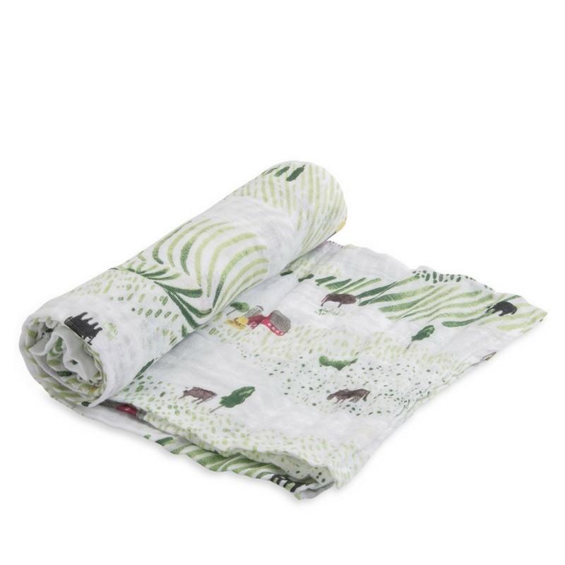 Muselina de algodón Little Unicorn Rolling Hills 120*120