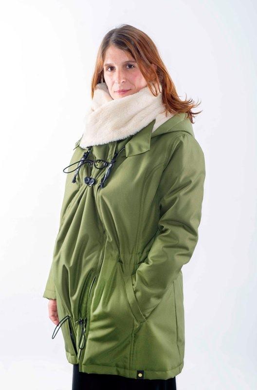 Abrigo de porteo y embarazo Wallaby 2.0 Verde/Beige
