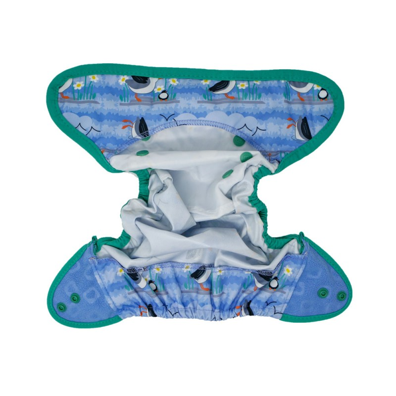 Cobertor unitalla Pop-in Blue Puffin Biolaminado