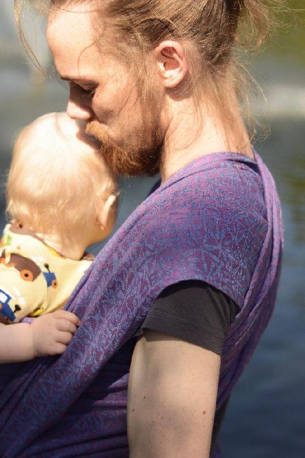 Fular Nona Woven Splash! Elsa & Lucas con lino
