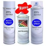 Kit Pintura Coche Spray Primer + Color + Barniz Brillo