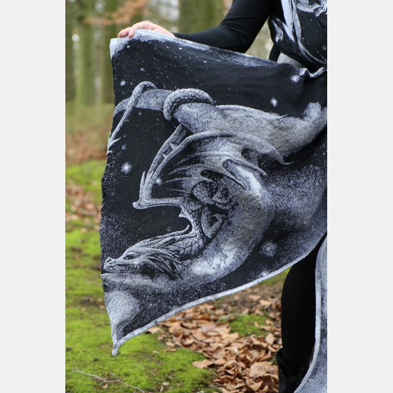 Fular Yaro Moonkeeper Trinity Black Silver Tencel