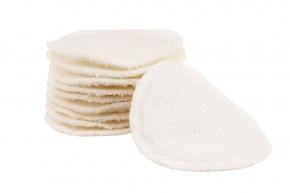 Pack de 10 discos desmaquillantes lavables de bambú con bolsa Blümchen