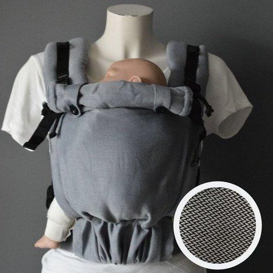 Mochila ergonómica evolutiva Pure Baby Love Click & Go Baby Charcoal