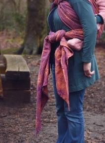 Fular Nona Woven Juno Cynxia con lino