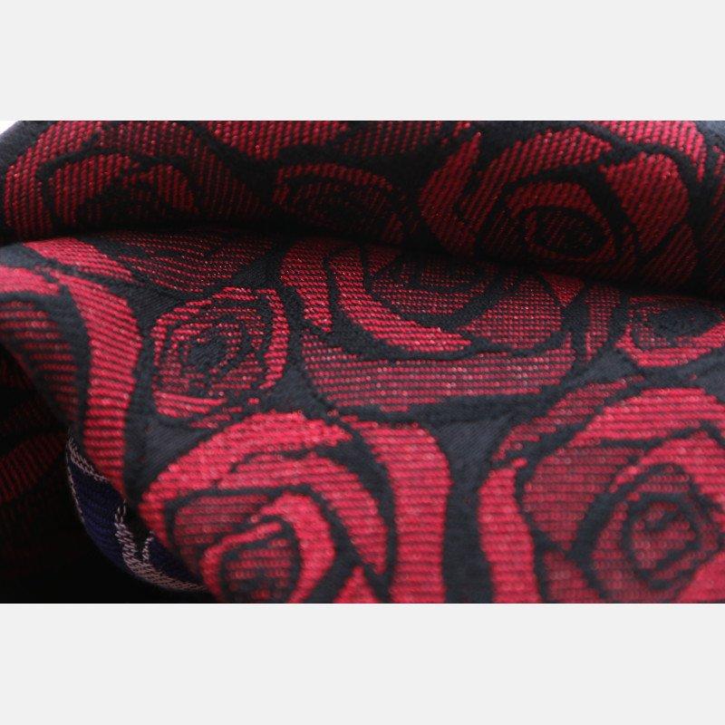 Fular Yaro Roses Duo Red Black Glam
