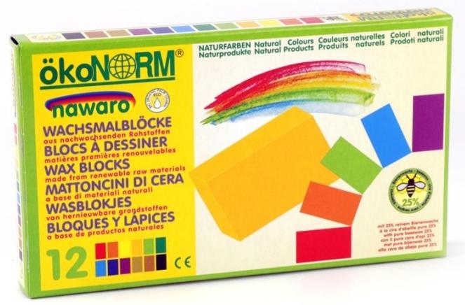 12 ceras de colores naturales Ökonorm