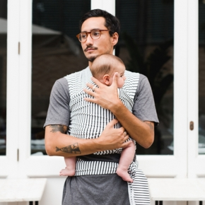 Fular portabebé elástico Baby on earth Stripes