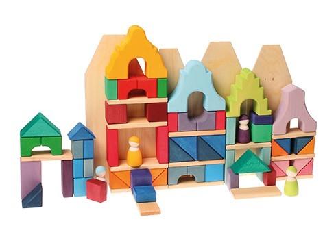 Casa de bloques verde