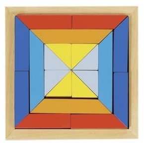 Puzle geométrico de madera 1