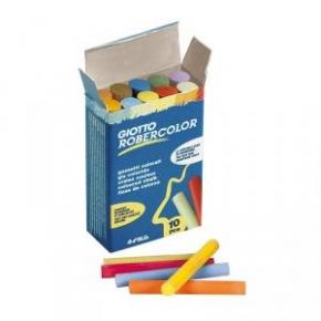 Tizas antialérgicas de colores (10 ud.)