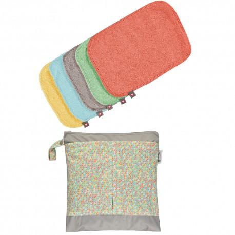 Pack de 10 toallitas de bambú colores pastel 2020 Pop-in