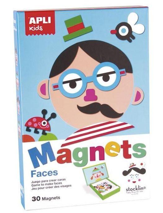 Juego magnético crear caras
