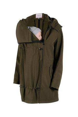 Abrigo de porteo y embarazo Wombat Shell verde